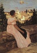 Frederic Bazille The Pink Dress oil painting artist